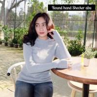 harga Sweater Wanita Round Hand Abu ( Jaket / Blazer / Jaket Lucu Terbaru ) Tokopedia.com
