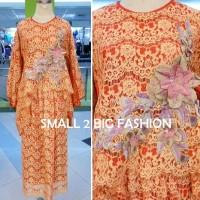 Dress Kaftan / Muslim / Kebaya Gamis Maxi Full Brokat / Gaun Brukat 04
