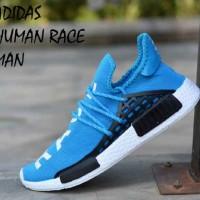 SEPATU PRIA ADIDAS SPORT HUMAN RACE BIRU IMPOR