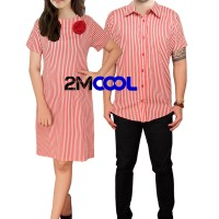 2MCool Mr and Mrs Smith Dress Couple/Couple Kemeja/Family Couple
