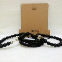 1 Set Bracelet Gelang Kulit Gelang Batu Barbel Watchanish Edition