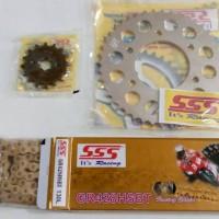 Gear Gir set SSS vixion semua tipe, rantai SSS HSBT Gold