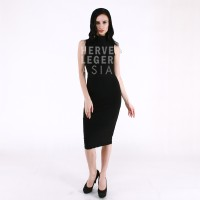 harga PREMIUM HERVE LEGER - BLACK TURTLENECK DRESS - BODYCON - BANDAGE Tokopedia.com