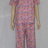 Baju Tidur/piyama Wanita Fl08 Kerah Sabrina/celana Panjang Ungu
