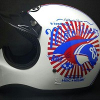Helm Cakil Moto Racer 83 Putih / Helm Cakil HBC / Helm Cakil SNI