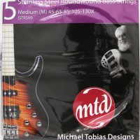 MTD Strings Stainless Steel Roundwound 5 Medium 45-130