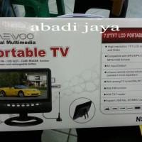 Tv daewoo 7'5inchi tv/usb/sd card/fm