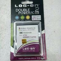 Battery Batre Baterai Logon Double Power Evercoss A75A Winner Y Ultra/