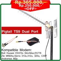 Jual Antena Modem 4G LTE Huawei E8372 Yagi Extreme III ECO - TS9 Dual Port Murah
