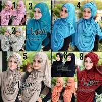 Hijab Syria Turban Syilla 2in1 / Jilbab / Kerudung / Bergo / Simple / Langsung