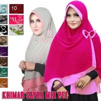 Hijab / Jilbab Khimar Sayra Mix Pet / Jilbab / Kerudung / Bergo / Syari / Khimar