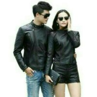harga jaket kulit couple/jaket motor Tokopedia.com