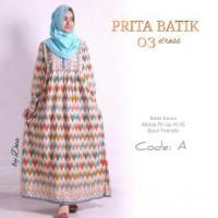DNA PRITA BATIK 03 (gamis muslimah, hijab, gamis katun, dress)