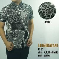 Baju Batik Kemeja Pria Modern Slim fit Lengan Pendek LS 05