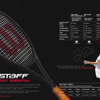 harga Raket Tenis Wilson Pro Staff 97 315gr Beta Ver (Full Black) 100% Ori Tokopedia.com