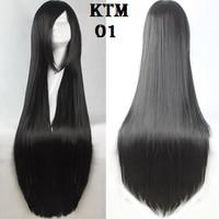 Wig Base long 80cm Black Rsw KTM cosplay wig panjang import Taobao