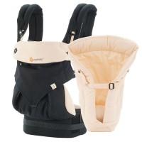 Ergo Baby Carrier 360 Bundle Of Joy with Infant Insert Black Camel