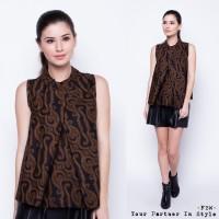 harga Blouse Batik Wanita / Fbw Ballina Front Pleat Batik Top - Hitam Tokopedia.com
