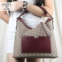 Tas Wanita Tas Gucci HOBO Waterproof Leather like Ori 2in1 (7569)