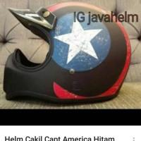 Jual Helm Cakil Captain America Hitam Murah
