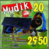 Promo Mudik 20 Steelseries Apex M500, SteelSeries Siberia 350
