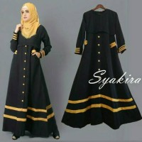 syakira hitam / dress hitam / gamis hitam / baju hitam / baju muslimah