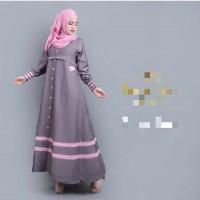 syakira abu / baju abu / hijab gaya baru / dress muslim / gamis murah