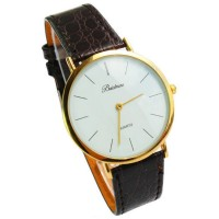 Baishuns Leather Band Quartz Watch