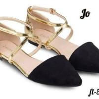 sepatu slip on flat shoes zalora gold