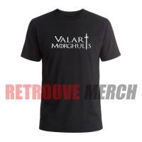 Tshirt Valar Morghulis Logo - Hitam