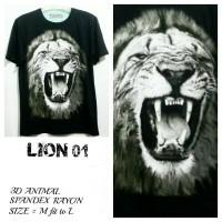 LION01 kaos gambar singa kaos kepala singa kaos binatang buas