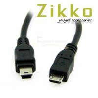 harga kabel micro usb to mini usb Zikko Tokopedia.com