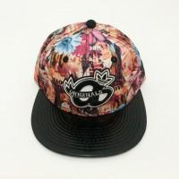 Jual Topi Snapback Adidas Bunga Merah Hitam import murah Murah