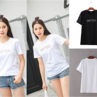 706041 BAJU KAOS FASHION STYLE TUMBLR TEE GAUL TRENDY GIFTED WANITA