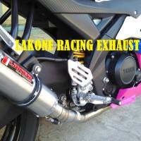 Knalpot Racing Lakone R-Series Fullset R15, Xabre, Cbr, Cb150r, Vixion