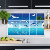 Jual STICKER DAPUR / STIKER DAPUR / WALL STICKER - DOLPHIN WALLSTICKER Murah