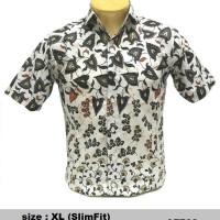harga Baju A7702 Kemeja Batik Slimfit (Fashion Pria Jas Dasi Muslim Koko Jea Tokopedia.com