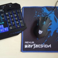 Keyboard Mouse Gaming Rexus Warfaction VR1 Backlight