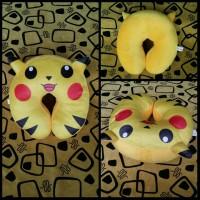 Bantal Leher Foto Pokemon Go Karakter Pikachu untuk Souvenir | Hadiah
