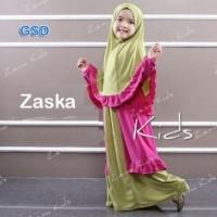 Baju Anak perempuan Setelan Hijab gamis Zaskia Kids A-061