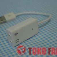USB External Mini Sound Card Audio Adapter Koneksi Kabel Fleksibel