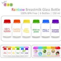 Babypax Rainbow botol kaca simpan asi