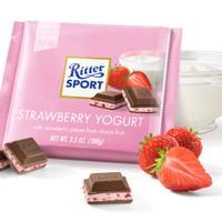 Ritter Sport Chocolate Strawberry Yogurt Coklat Cokelat Import