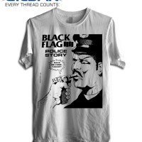 KAOS BLACK FLAG - POLICE STORY TSHIRT GILDAN SOFTSTYLE