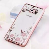 harga Samsung Note 5 Softcase Transparan Bening Rose Gold Bunga Permata Tokopedia.com