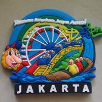 Magnet / tempelan kulkas Dufan Jakarta rubber - souvenir Indonesia
