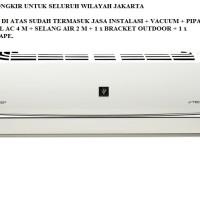 PROMO AC SHARP PLASMACLUSTER INVERTER 1/2 PK AH-XP6SHY FREON R32, 245W