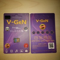 MicroSD V-GeN 8GB Class 6 kartu memori memory card micro sd vgen