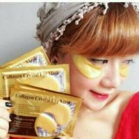 masker mata cristal collagen gold eye mask