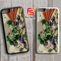 Hulk vs Superman F0033 iPhone 4, 4S, 5, 5S,5C, 6, 6S, 6 Plus, 6S Plus